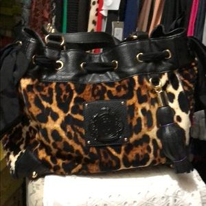 Brand new Juicy Couture leopard print handbag